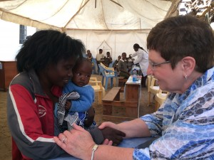 Prayer ministry at the medical clinic